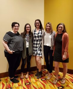 Our Communications Director, Chelsea Miller, met up with some communications staff from other state coalitions! Pictured: Chelsea (NY), Alix Mammina (NJ), Jessica Lahr (MT), Marissa Marzano (NJ), and Maria Swoboda (AK)