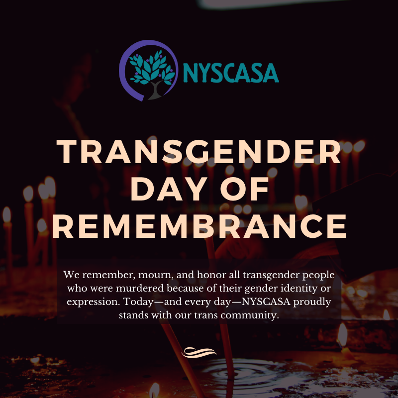 NYSCASA Honors Transgender Day of Remembrance 2019